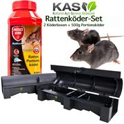 Rattenköder-Set 500g Portionsköder Rodicum + 2 Box