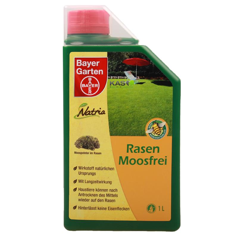 bayer garten rasen moosfrei 1 l liter frei von moos ebay. Black Bedroom Furniture Sets. Home Design Ideas
